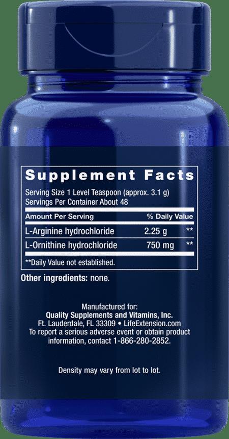 Arginine Ornithine Powder, 150 grams 2