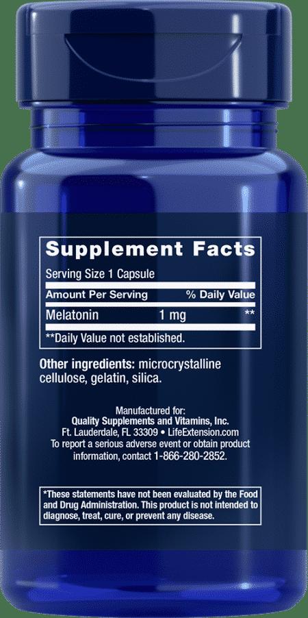 Melatonin, 1 mg, 60 capsules 2