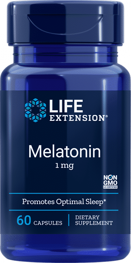 Melatonin, 1 mg, 60 capsules 1
