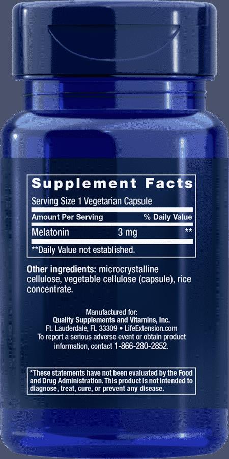 Melatonin, 3 mg, 60 vegetarian capsules 2