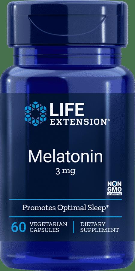 Melatonin, 3 mg, 60 vegetarian capsules 1