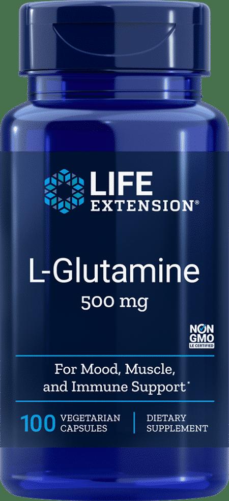 L-Glutamine, 500 mg, 100 vegetarian capsules 1