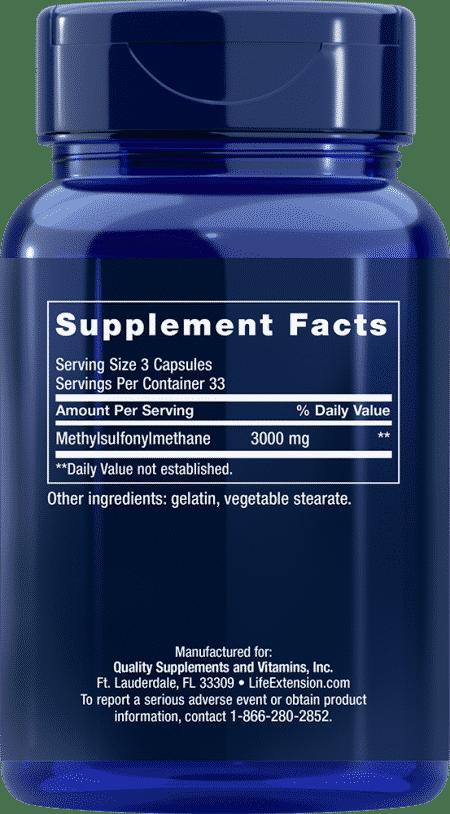 MSM, 1000 mg, 100 capsules 2