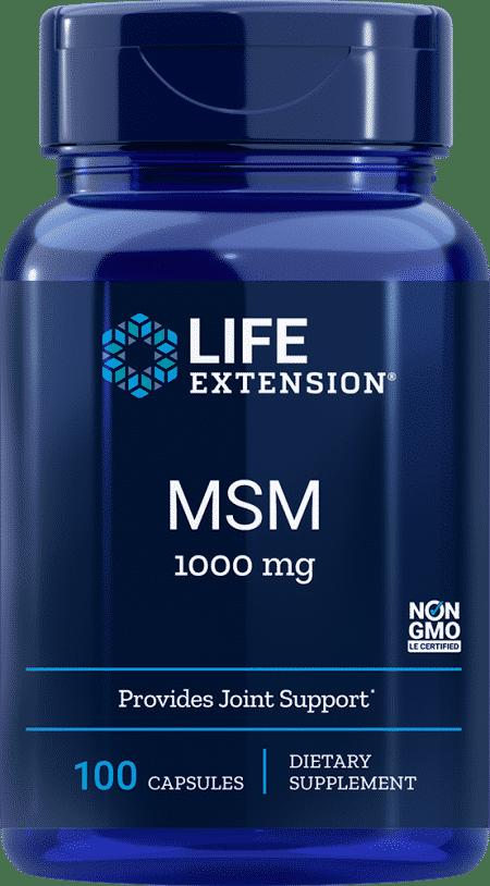 MSM, 1000 mg, 100 capsules 1