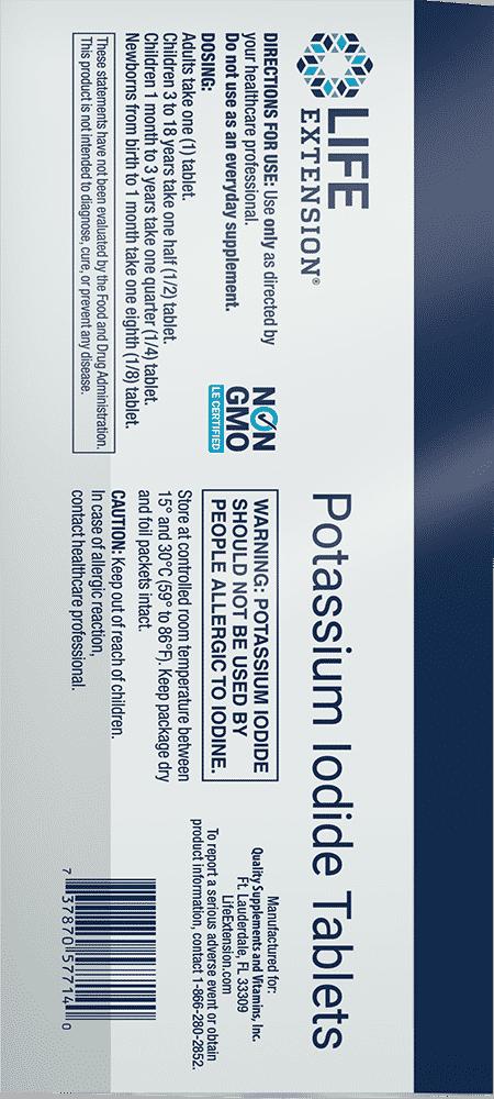 Potassium Iodide Tablets , 130 mg, 14 tablets 2