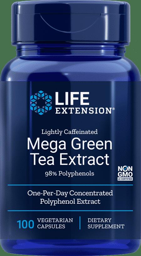 Lightly Caf Mega Green Tea Ext, 100 VeggieC 1