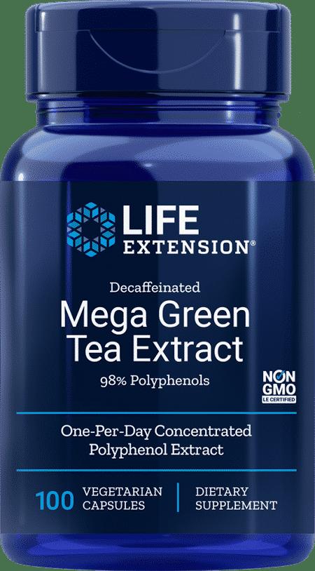 Decaffeinated Mega Green Tea Extract, 100 VeggieC 1