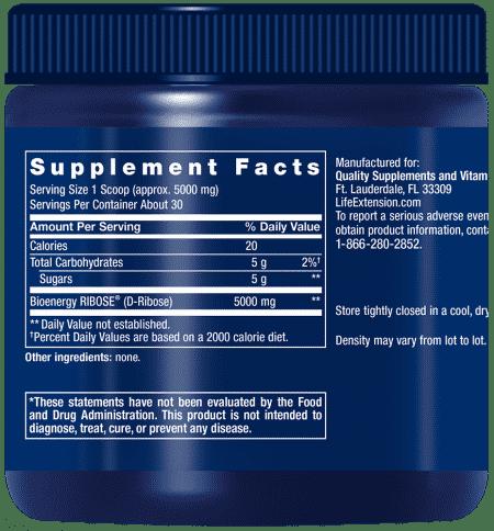 D-Ribose Powder, 150 grams 2