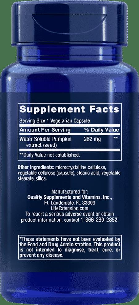 Water-Soluble Pumpkin Seed Extract, 60 VeggieC 2