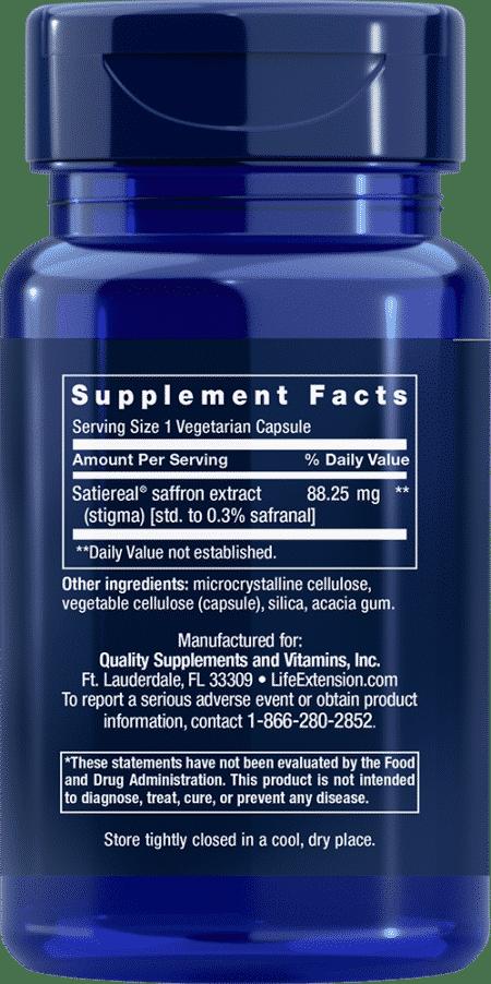 Optimized Saffron with Satiereal®, 60 vegetarian c 2