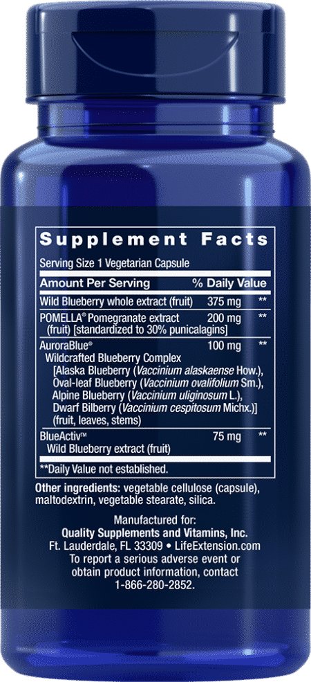 Blueberry Extract with Pomegranate, 60 VeggieC 2