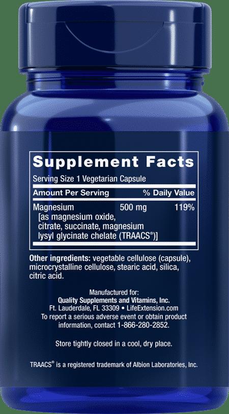 Magnesium Caps, 500 mg, 100 vegetarian capsules 2
