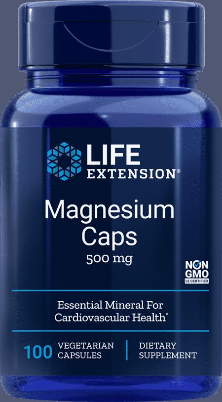 Magnesium Caps, 500 mg, 100 vegetarian capsules 1