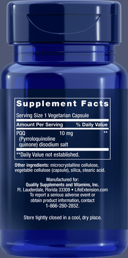 PQQ Caps, 10 mg, 30 vegetarian capsules 2