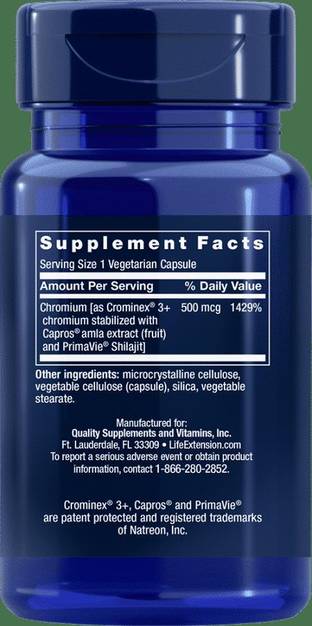 Opt Chromium w/ Crominex® 3+, 500 mg, 60 VeggieC 2