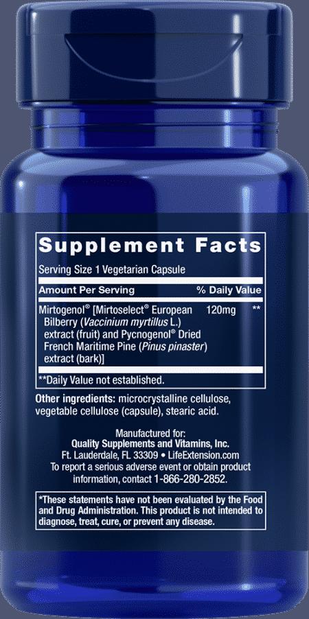 Eye Pressure Support with Mirtogenol®*, 30 VeggieC 2