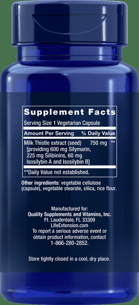 European Milk Thistle, 60 vegetarian capsules 2