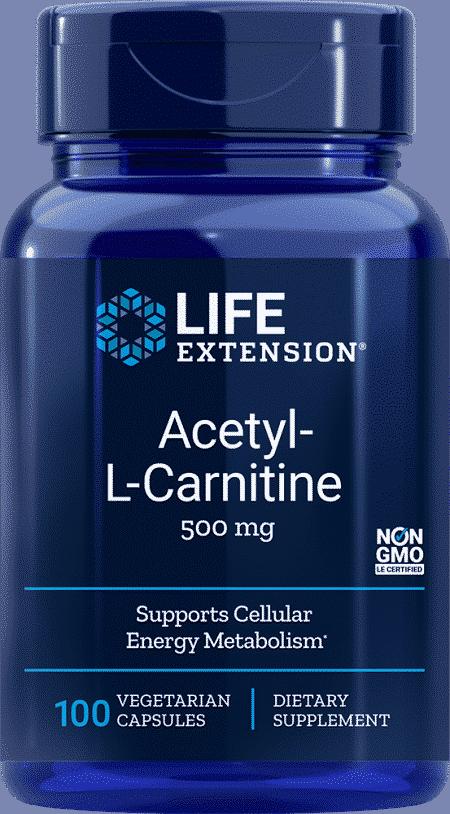 Acetyl-L-Carnitine, 500 mg, 100 VeggieC 1