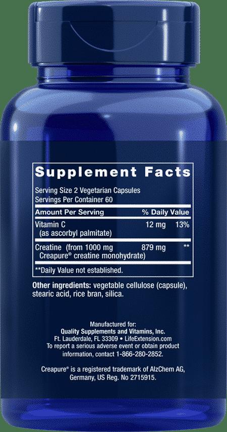 Creatine Capsules, 120 vegetarian capsules 2