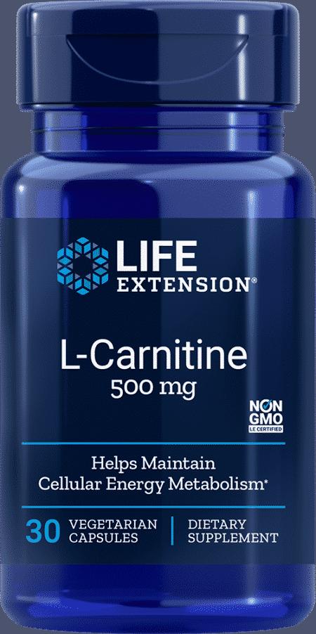 L-Carnitine, 500 mg, 30 vegetarian capsules 1