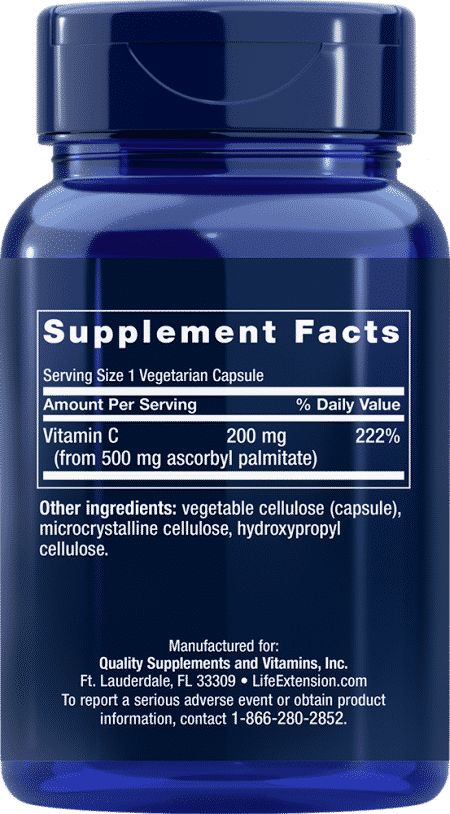 Ascorbyl Palmitate, 500 mg, 100 VeggieC 2