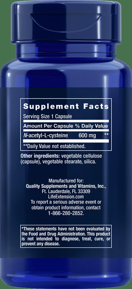 N-Acetyl-L-Cysteine, 600 mg, 60 VeggieC 2