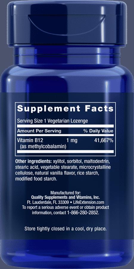 Methylcobalamin, 1 mg, 60 vegetarian lozenges 2