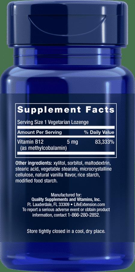 Methylcobalamin, 5 mg, 60 vegetarian lozenges 2