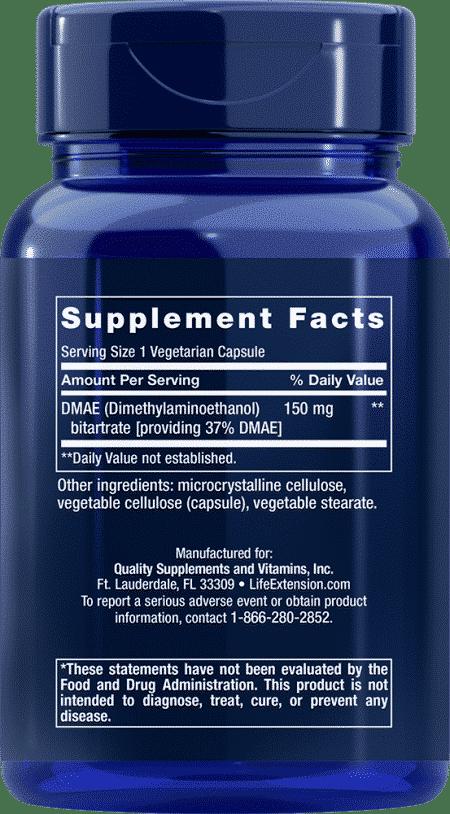 DMAE Bitartrate , 150 mg, 200 vegetarian capsules 2
