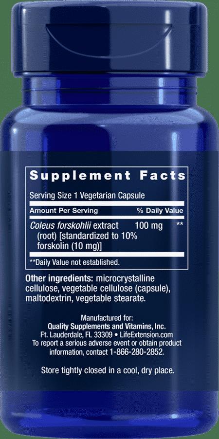 Forskolin, 10 mg, 60 vegetarian capsules 2