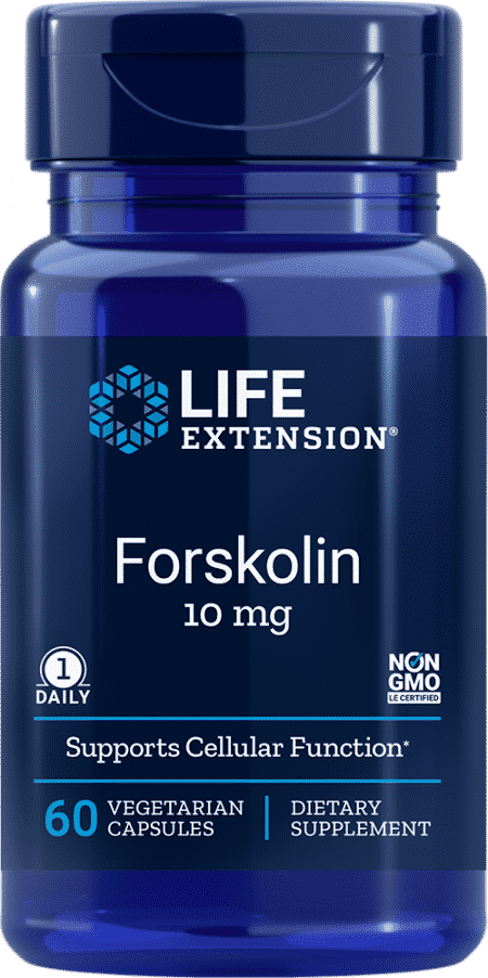 Forskolin, 10 mg, 60 vegetarian capsules 1