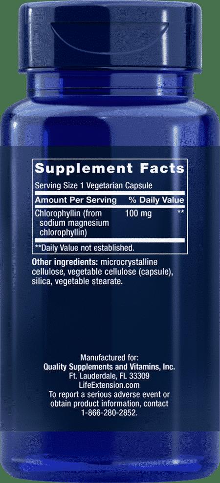 Chlorophyllin, 100 mg, 100 vegetarian capsules 2