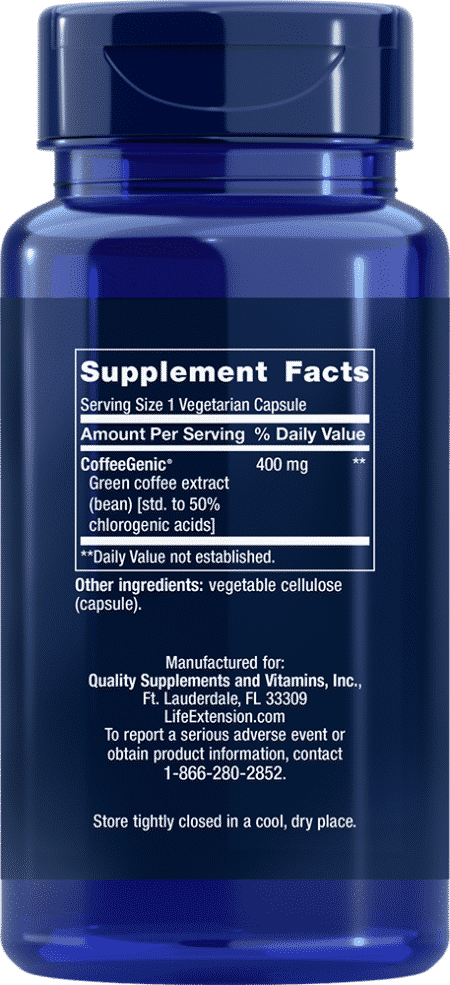 CoffeeGenic® Green Coffee Ext, 400 mg, 90 VeggieC 2