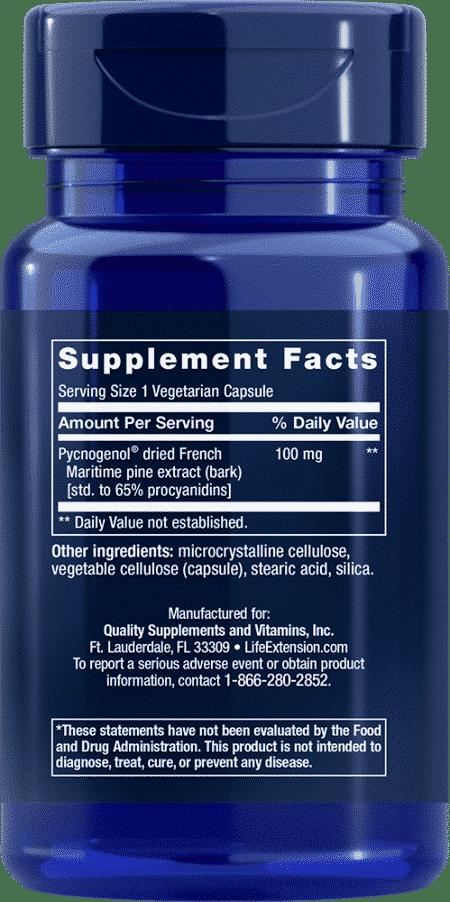 Pycnogenol®, 100 mg, 60 vegetarian capsules 2