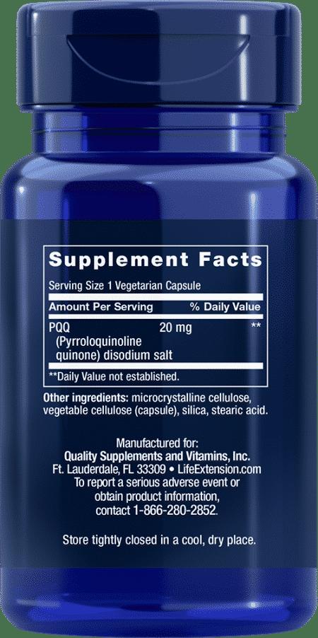 PQQ Caps, 20 mg, 30 vegetarian capsules 2