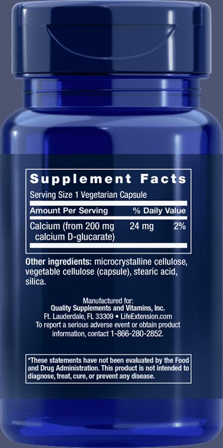 Calcium D-Glucarate, 200 mg, 60 VeggieC 2