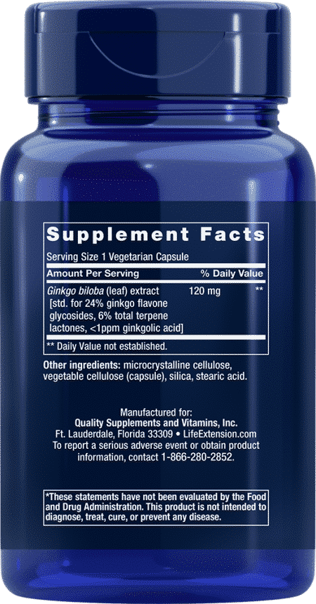 Ginkgo Biloba Certified Ext™, 120 mg, 365 VeggieC 2