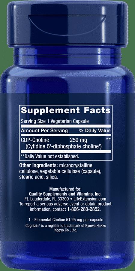 Cognizin® CDP-Choline Caps, 250 mg, 60 VeggieC 2