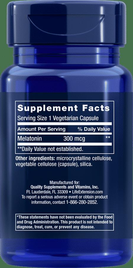 Melatonin, 300 mcg, 100 vegetarian capsules 2