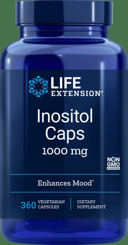 Inositol Caps, 1000 mg, 360 vegetarian capsules 1
