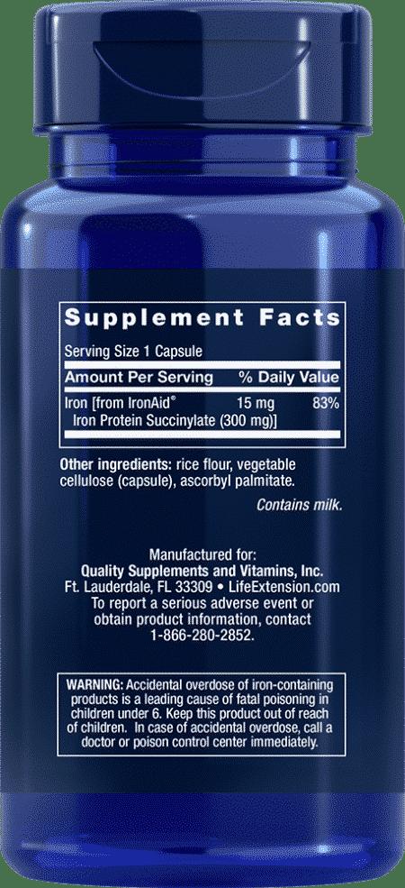 Iron Protein Plus, 300 mg, 100 capsules 2