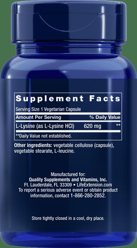 L-Lysine, 620 mg, 100 vegetarian capsules 2