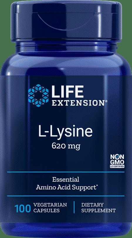 L-Lysine, 620 mg, 100 vegetarian capsules 1