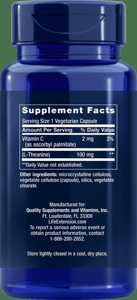 L-Theanine, 100 mg, 60 vegetarian capsules 2
