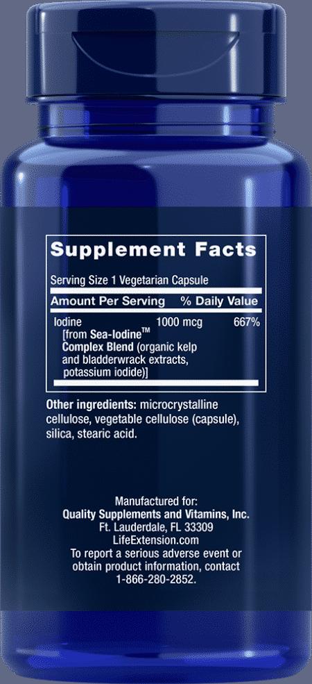 Sea-Iodine™, 1000 mcg, 60 vegetarian capsules 2