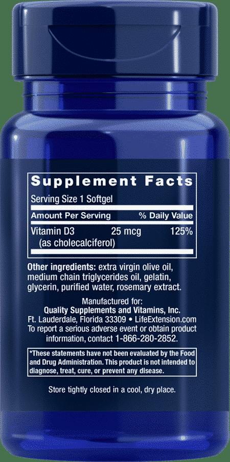 Vitamin D3, 1000 IU, 90 softgels 2
