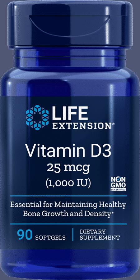 Vitamin D3, 1000 IU, 90 softgels 1