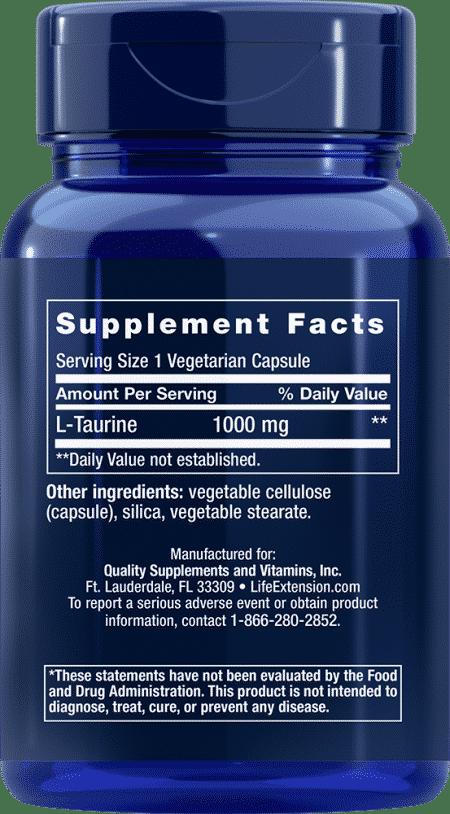 Taurine, 1000 mg, 90 vegetarian capsules 2