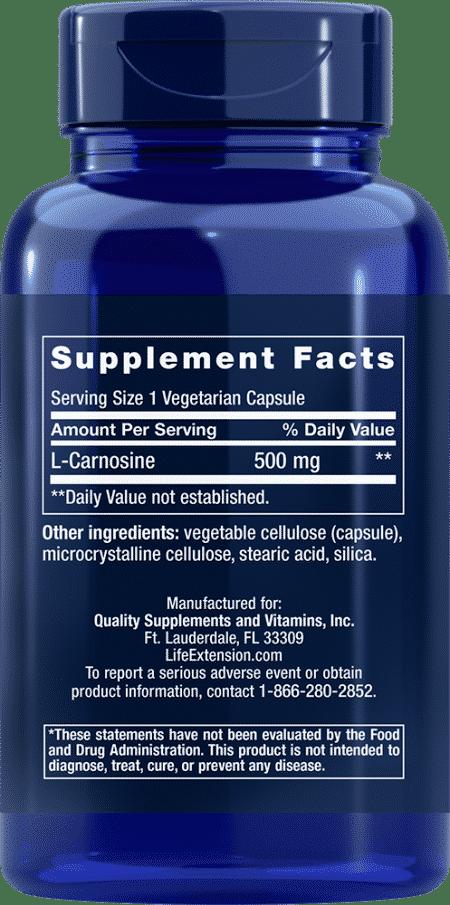 Carnosine, 500 mg, 60 vegetarian capsules 2