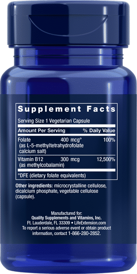 BioActive Folate & Vitamin B12, 90 VeggieC 2